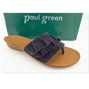 New PAUL GREEN Ruffle Thong Sandal UK5/US7.5